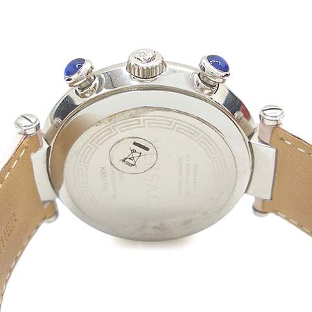 Versace(베르사체) 68C 크로노그래프 6P 다이아 자개판 가죽밴드 여성용 시계