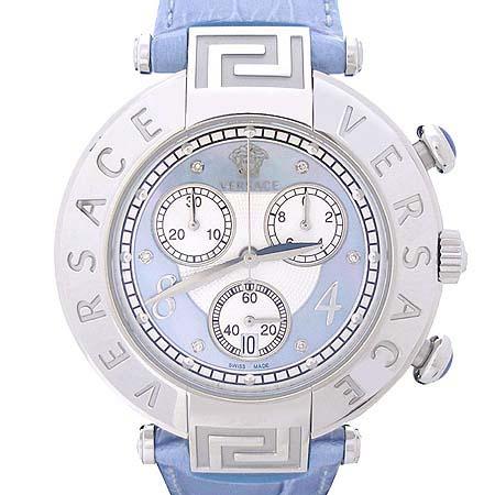 Versace(베르사체) 68C 크로노그래프 6P 다이아 자개판 가죽밴드 여성용 시계 [인천점]