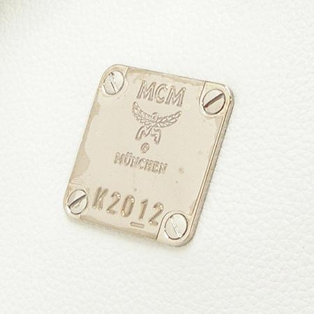 MCM(엠씨엠) 1011065040201 은장 로고 장식 화이트 레더 토트백