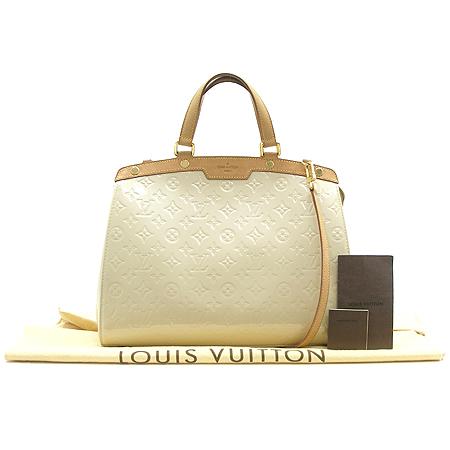 Louis Vuitton(루이비통) M91454 모노그램 베르니 블랑 코레일 브레아 GM 2WAY