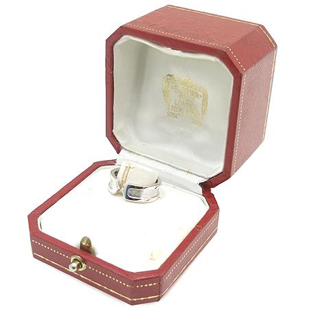 Cartier(까르띠에) 18K 화이트 골드 더블 C 로고 반지 - 12호 [압구정매장]