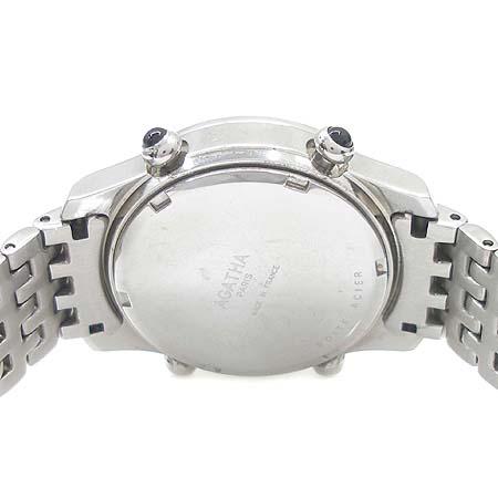 Agatha(아가타) 크로노그라프 9포인트 장식 베젤 장식 스틸 여성용 시계 이미지5 - 고이비토 중고명품