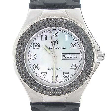 TechnoMarine (테크노마린) 자개판 블랙 다이아 여성용 시계