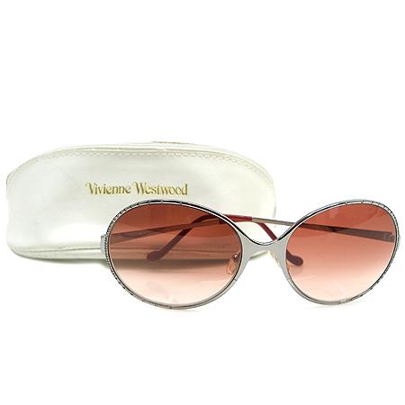 Vivienne_Westwood (비비안웨스트우드) VW53011 크리스탈 장식 은장 퍼플 여성용 선글라스 이미지2 - 고이비토 중고명품