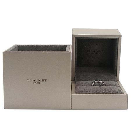CHAUMET(쇼메) 18K 화이트골드 8포인트 다이아 + 러버밴드 클라스원 반지