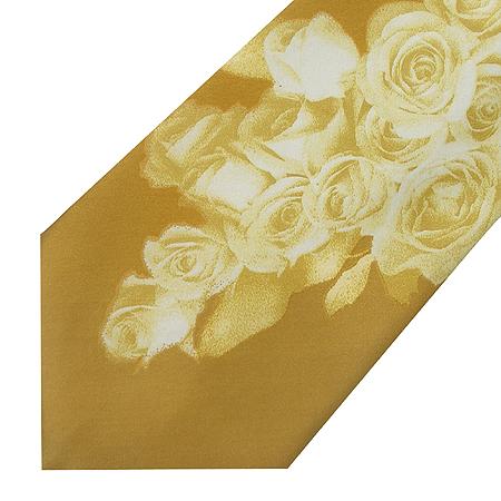 CAVALLI(카발리) 실크 100% 로즈 패턴 넥타이