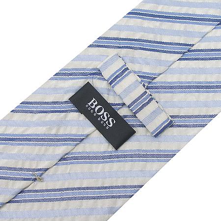 Hugo Boss(휴고보스) 실크 혼방 더블 스트라이프 패턴 넥타이 이미지4 - 고이비토 중고명품