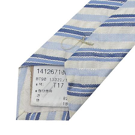 Hugo Boss(휴고보스) 실크 혼방 더블 스트라이프 패턴 넥타이 이미지5 - 고이비토 중고명품