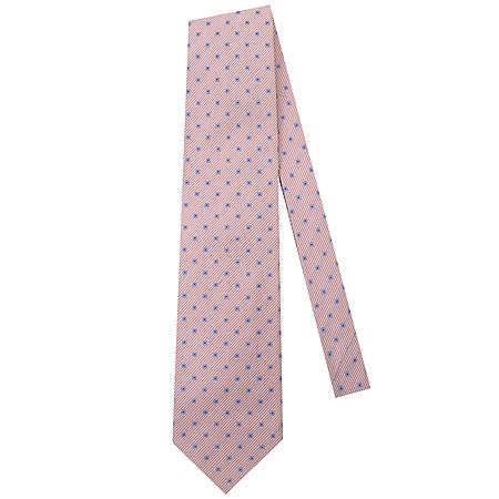 Hugo Boss(휴고보스) 핑크 혼방  정방 패턴 넥타이