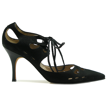 MANOLO BLAHNIK (마놀로 블라닉) 블랙 스웨이드 여성용 구두