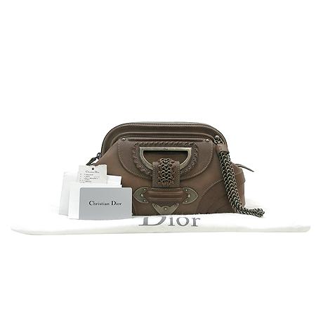 Dior(크리스챤디올) 11 MA 0037 잔느 빈티지 메탈 브라운 고트 래더 클러치