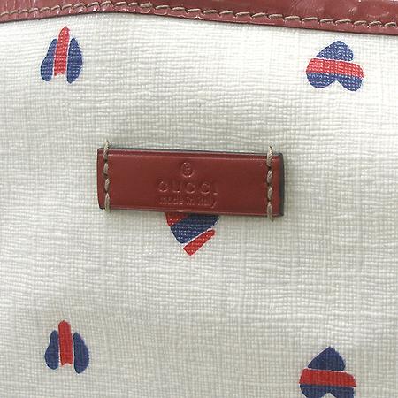 Gucci(구찌) 197953 멀티 컬러 하트 GG로고 PVC 레드 래더 트리밍 쇼퍼 숄더백
