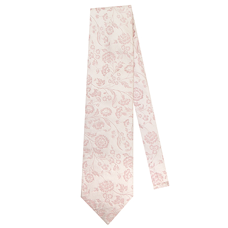 Hugo Boss(휴고보스) 핑크 플라워 패턴 실크 100% 넥타이