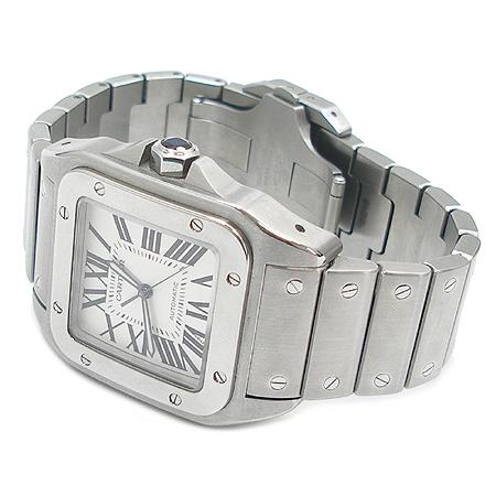 Cartier(까르띠에) W200737G 산토스 100 오토매틱 스틸밴드 남성용 시계