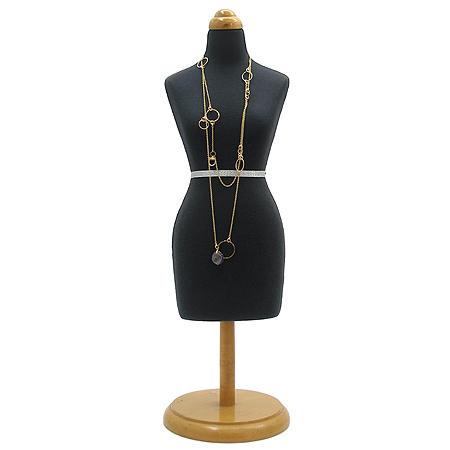 Gucci(구찌) 18K(750) 옐로우 골드 라운드 원석 장식 목걸이