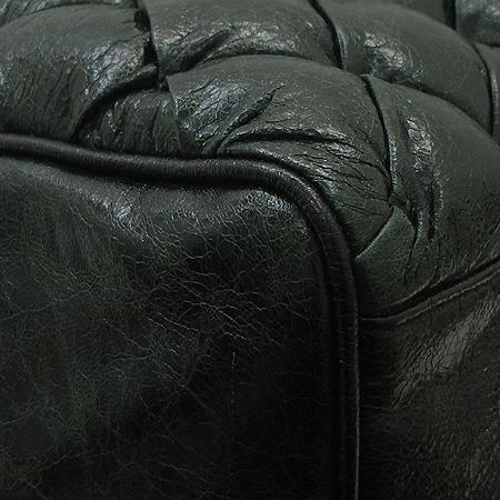 Balenciaga(발렌시아가) 168031 은장 스터드 빈티지 다크 그린 고트 스킨 퀼팅 토트백