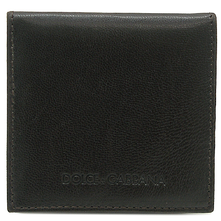 D&G(돌체&가바나) 다크 브라운 레더 동전 지갑