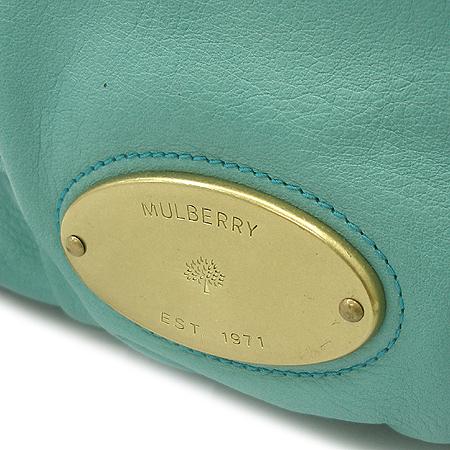 MULBERRY(멀버리) 금장 로고 장식 브라운 래더 스트랩 트리밍 2WAY