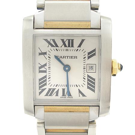 Cartier(까르띠에) 탱크 프랑세즈 콤비 M사이즈 남녀공용 시계