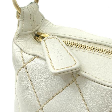 Chanel(샤넬) 화이트래더 와일드스티치 금장체인 숄더백