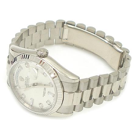 Rolex(로렉스) 118239 18K 화이트 금통 10포인트 다이아 DAYDATE(데이데이트) 남성용 시계