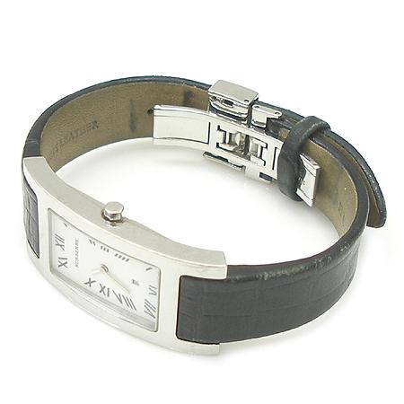 Burberry(버버리)14000G 은장 스퀘어 가죽 밴드 시계