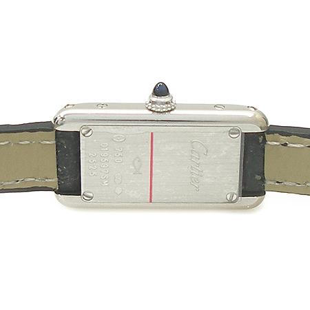 Cartier(까르띠에) W1540856 18K 화이트 골드 탱크 알롱제(Tank Allongee) 가죽밴드 여성용 시계