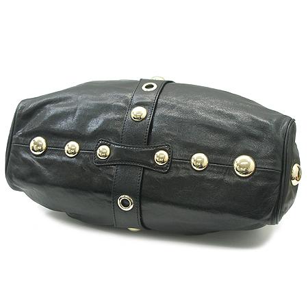 JIMMY CHOO(지미추) 블랙 레더 금장 로고 라모나 숄더백
