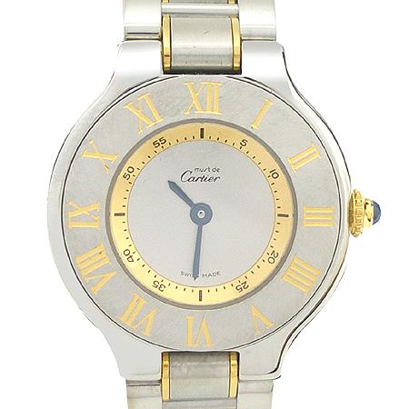 Cartier(까르띠에) W10073R6 21세기 18K 콤비 여성용 시계