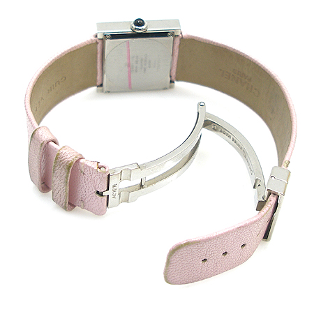 Chanel(샤넬) 마드모아젤 사각 스틸 프레임 DD클립 여성용 시계 이미지3 - 고이비토 중고명품