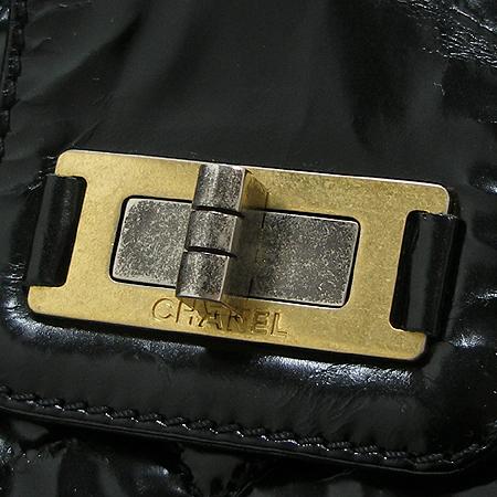 Chanel(샤넬) 블랙래더 빈티지 메탈 체인 숄더백