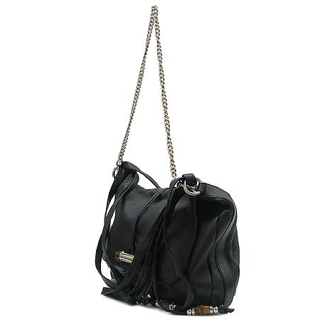 Gucci(구찌) 232940 블랙 래더 은장체인 뱀부장식 숄더백 이미지3 - 고이비토 중고명품