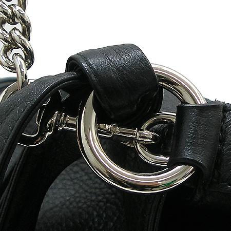 Gucci(구찌) 232940 블랙 래더 은장체인 뱀부장식 숄더백 이미지4 - 고이비토 중고명품