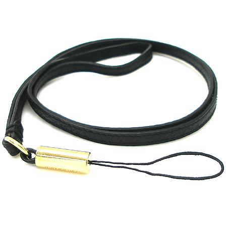 D&G(돌체&가바나) 블랙 래더 목걸이형 핸드폰 악세사리