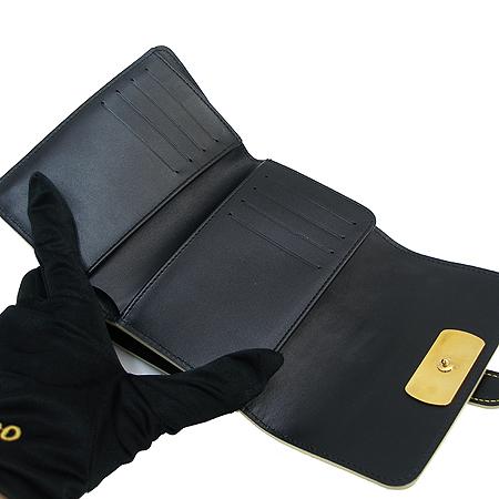 Louis Vuitton(루이비통) M95853 블랙 수할리 레더  르 송튜 금장 중지갑