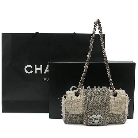 Chanel(샤넬) 트위드 은장 체인 숄더백