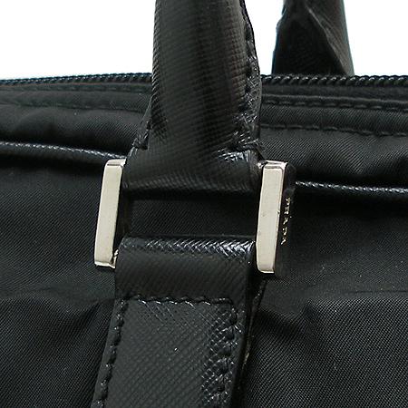 Prada(프라다) 블랙 레더 스티치 패브릭 서류가방 토트백 이미지3 - 고이비토 중고명품