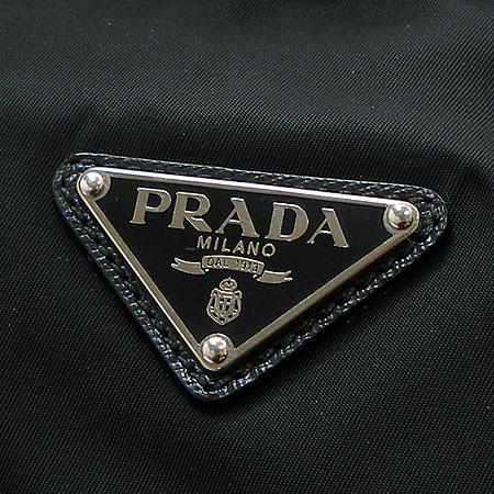 Prada(프라다) 블랙 레더 스티치 패브릭 서류가방 토트백