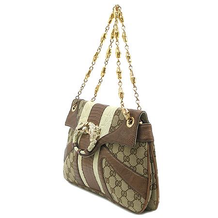 Gucci(구찌) 135952 GG 로고 자가드 크로커다일 패턴 드래곤 장식 금장 체인 숄더백