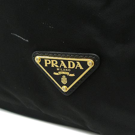 Prada(프라다) 삼각 로고 장식 블랙 패브릭 2WAY