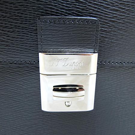 Dupont(듀퐁) CG74600 은장 로고 장식 블랙 레더 클러치백 겸 세컨드백