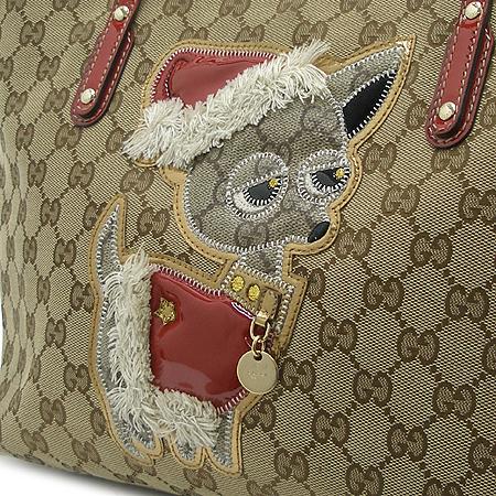 Gucci(구찌) 212376 GG로고 쟈가드 레드트리밍 시즌 한정판 쇼퍼 숄더백