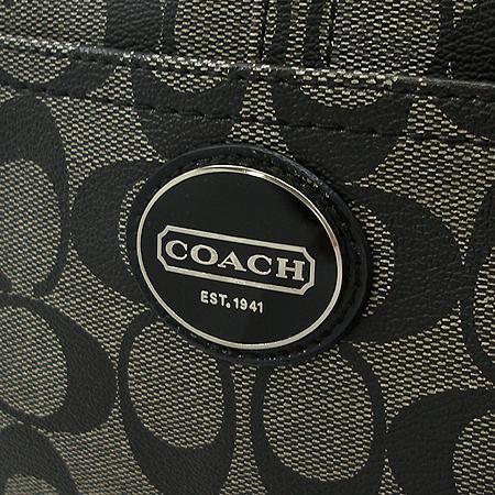 Coach(코치) F18923 시그니처 PVC 블랙 애나멜 혼방 숄더백
