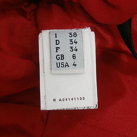 Moschino(모스키노) A04141133 레드 플라워 장식 실크 원피스