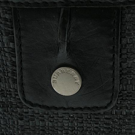 Burberry(버버리) 멀티포켓 블랙 래더 트리밍 토트백