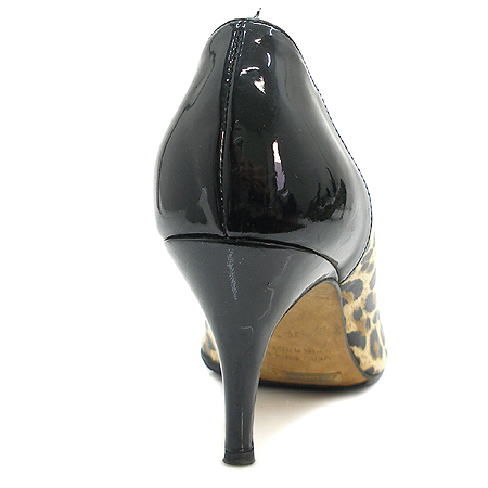 D&G(돌체&가바나) 블랙 래더 트리밍 레오파드 펌프스 하이힐 여성용 구두 [인천점]