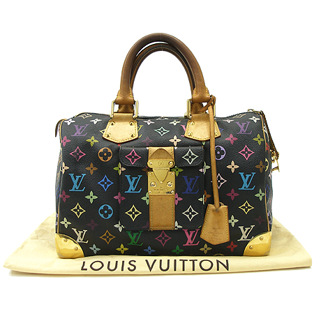 Louis Vuitton(루이비통) M92642 모노그램 멀티 블랙 스피디30 토트백 이미지2 - 고이비토 중고명품