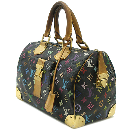 Louis Vuitton(루이비통) M92642 모노그램 멀티 블랙 스피디30 토트백 이미지3 - 고이비토 중고명품