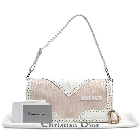 Dior(크리스챤디올) 디오르시모 에나멜 스티치 D로고 은장 장식 숄더백