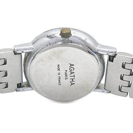 Agatha(아가타) 은장 강쥐 로고 장식 스틸 시계